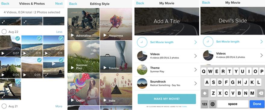 Magisto app edición de vídeo