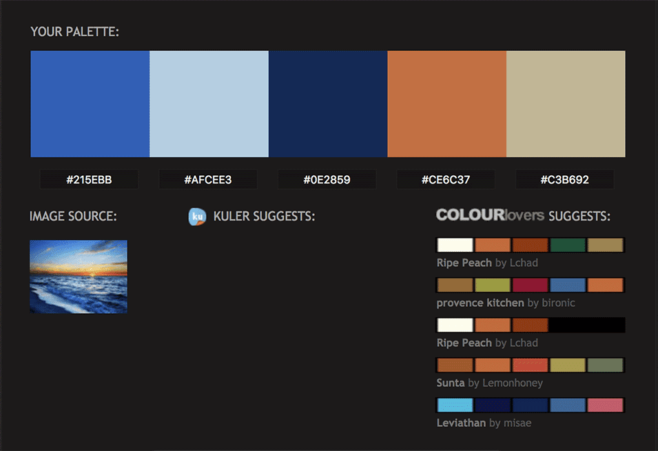 Mar Paleta de Colores