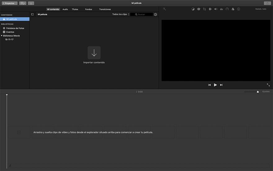 iMovie editor de video