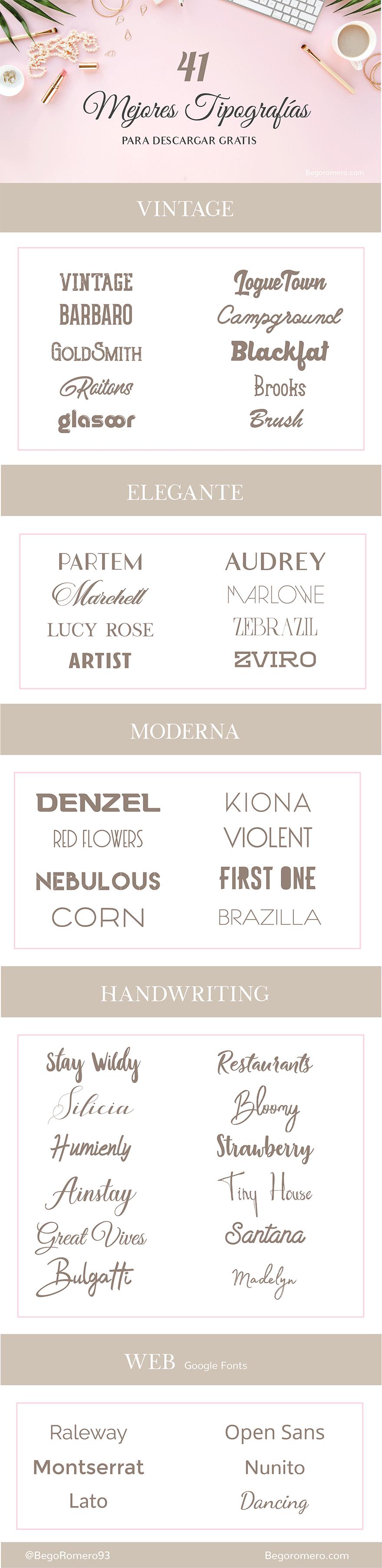 Descargar tipografias bonitas