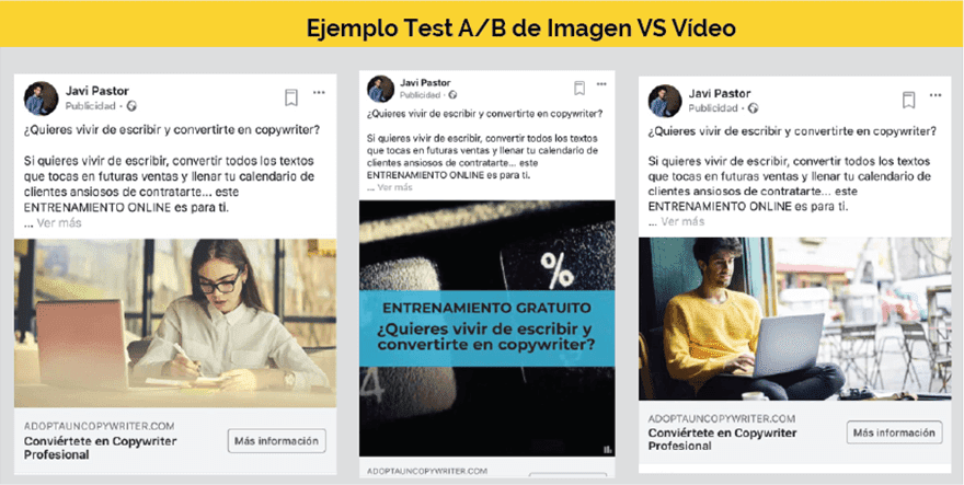 Test AB anuncios facebook ads