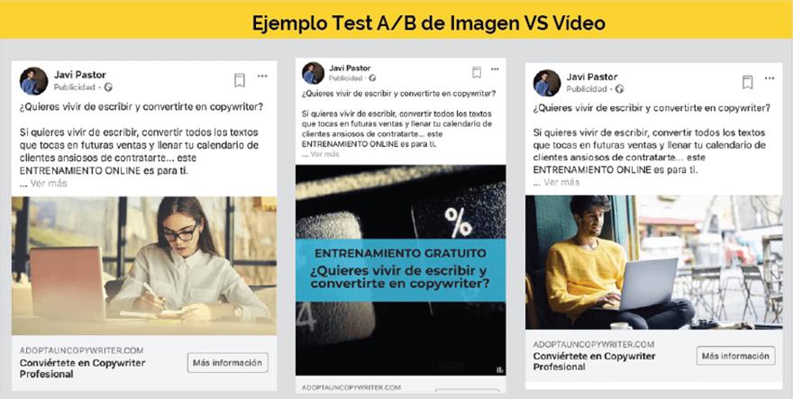 Test AB anuncios facebook ads