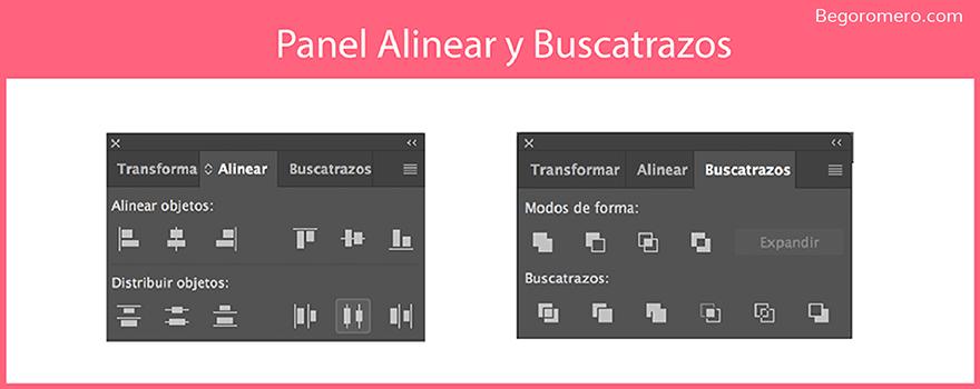 Organizar y buscatrazos en Adobe Illustrator