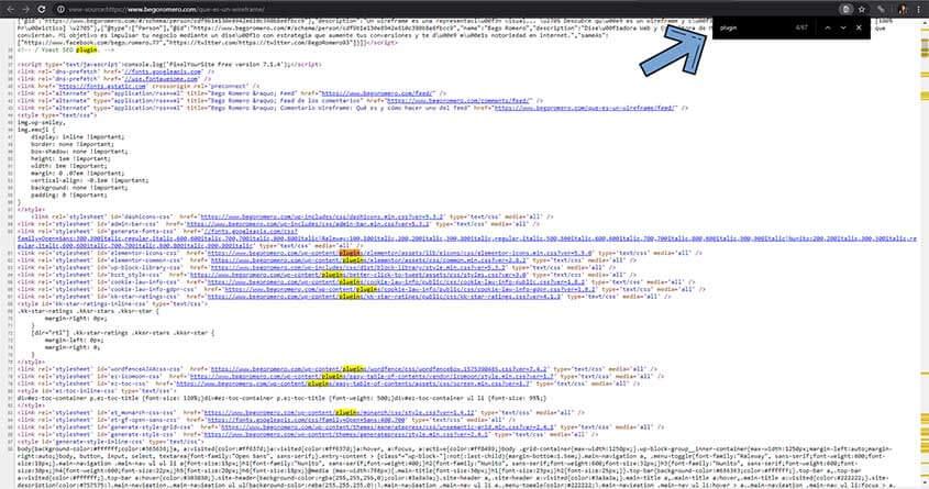 analizar plugins pagina web