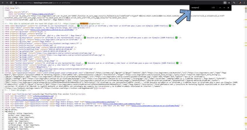 como averiguar cms web