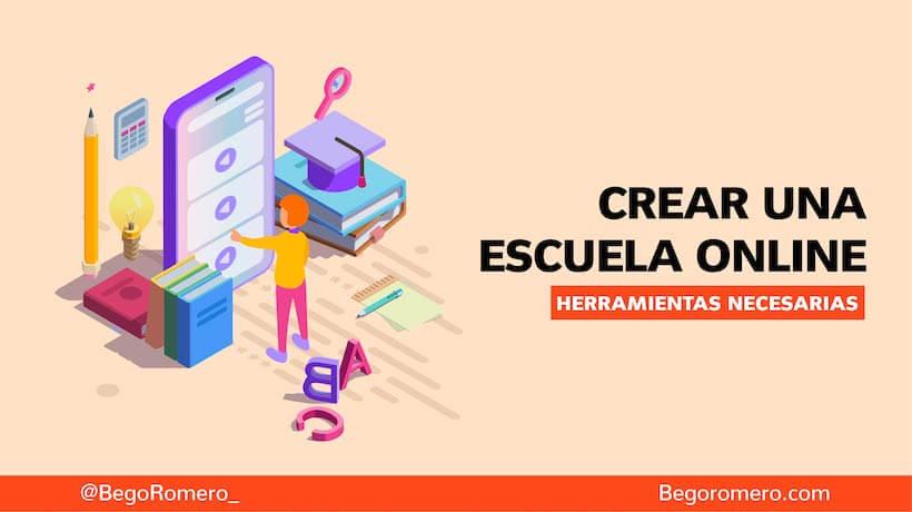 como crear una escuela online