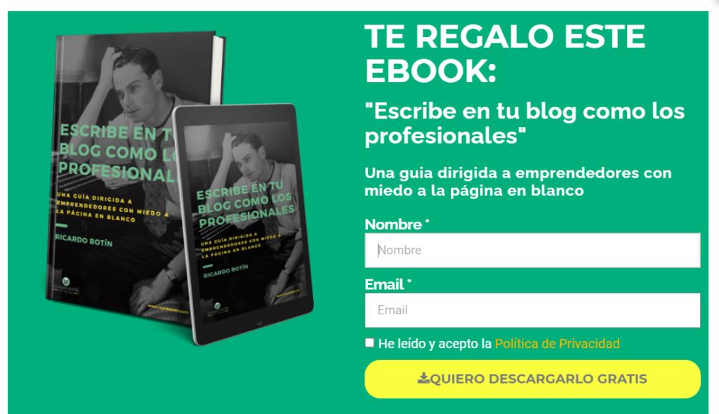 ejemplo lead magnet ebook
