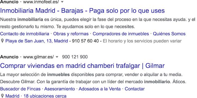 google ads para inmobiliarias